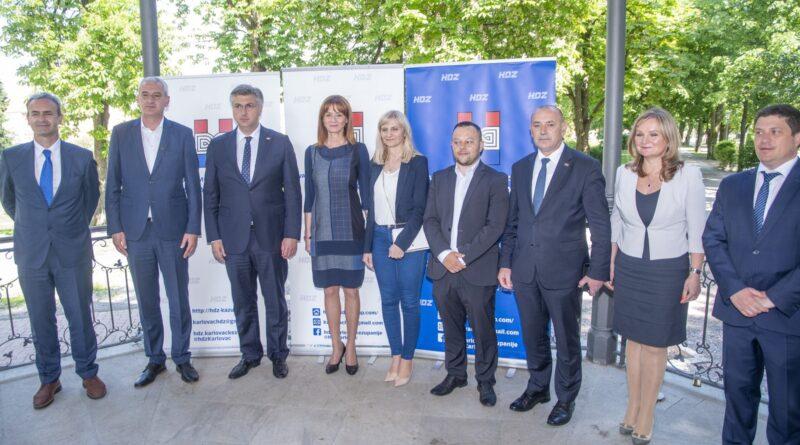 Predsjednik HDZ-a i premijer Andrej Plenković podržao HDZ-ove kandidate u drugom krugu