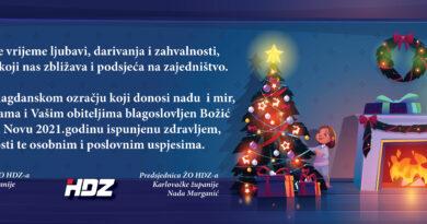 Sretan i blagoslovljen Božić i sretna Nova 2021.godina